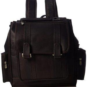 Handbags - Leather Double Loop flip Laptop Backpack